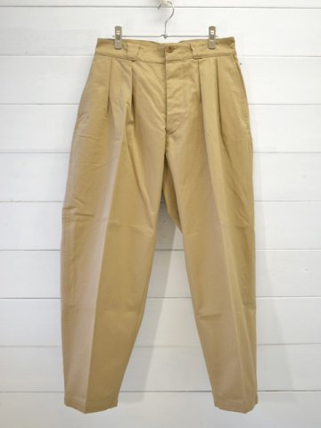 KAPTAIN SUNSHINE (キャプテンサンシャイン) <br>2Pleats Tapered Trousers (KS20FPT12)