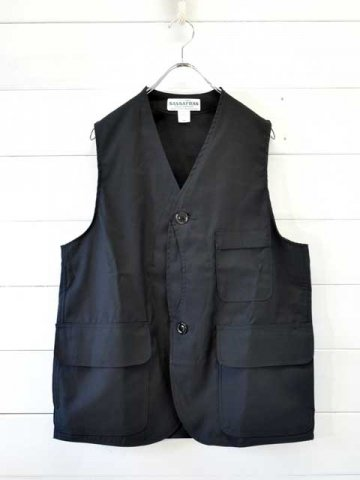 SASSAFRAS(ササフラス)<br>GARDEN TOUGH VEST BACK SATIN / BLACK (SF-201712)