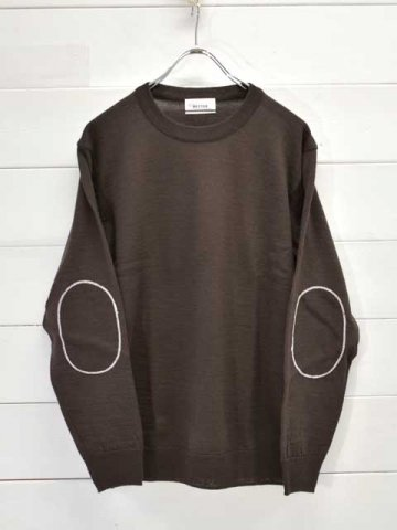 BETTER(ベター) SHETLAND MERINO PATCHED SWEATER (BTRK2002)