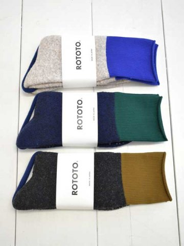"RoToTo(ロトト) <br>DOUBLE FACE CREW SOCKS ""THERMO FLEECE"" (R1348)"
