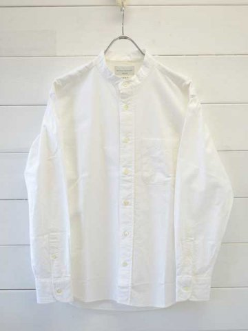 MANUAL ALPHABET (マニュアルアルファベット) <br>PREMIUM OX BC SHT - Bulging fit - WHITE (BASIC-BG-014)
