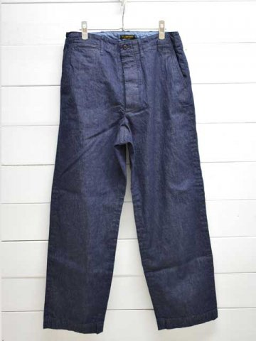 A VONTADE (アボンタージ) <br>Type 45 Chino Trousers - Wide Fit - indigo (VTD-0340-PT)