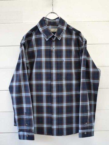 nisica (ニシカ) ボタンダウンシャツ チェック ネイビー (NIS-968)