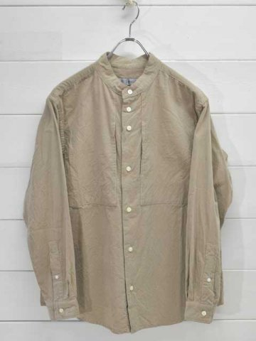 nisica (ニシカ) バンドカラーシャツ コーデュロイ (NIS-1000)