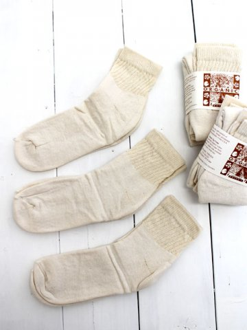 ORGANIC THREADS(オーガニックスレッド)<br>Short Top Crew 3P Socks