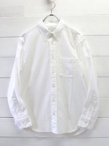 MANUAL ALPHABET (マニュアルアルファベット) <br>SUPIMA OX BD SHT - Bulging fit - WHITE (BASIC-BG-001)
