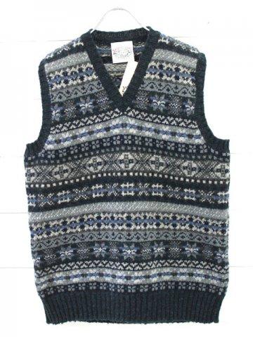 JAMIESON'S (ジャミーソンズ) Vneck knit vest (MK176V)