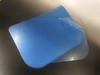 ワイドタイプ透明シールド5枚セット【防塵・飛沫防止|花粉症対策|新型コロナ対策】