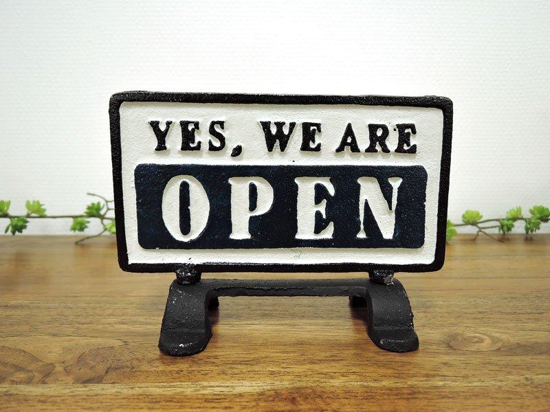 オープン&クローズ<br>リバーシブルサインスタンド<br>