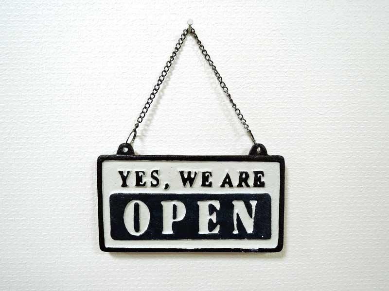 オープン&クローズ<br>リバーシブルサインハンギング<br>