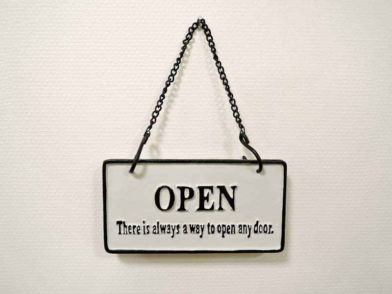 オープン&クローズ<br>アイアンプレート ホワイト<br>