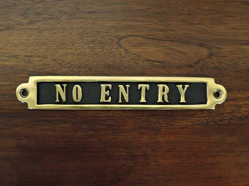 ブラスサイン<br>NO ENTRY<br>