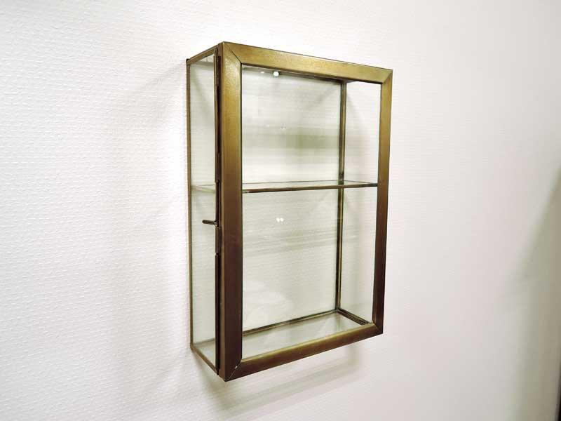ブラス ガラスコレクション<br>ウォールボックス L<br>