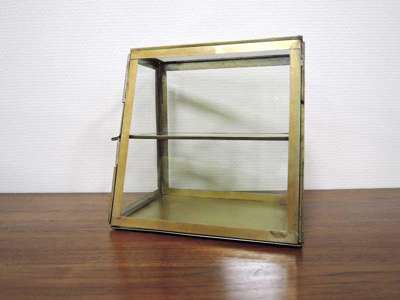 ブラス ガラスコレクション<br>ケース 2 ステージ<br>