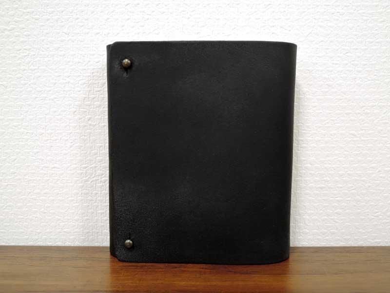 レザーカードケース L<br>ブラック<br>