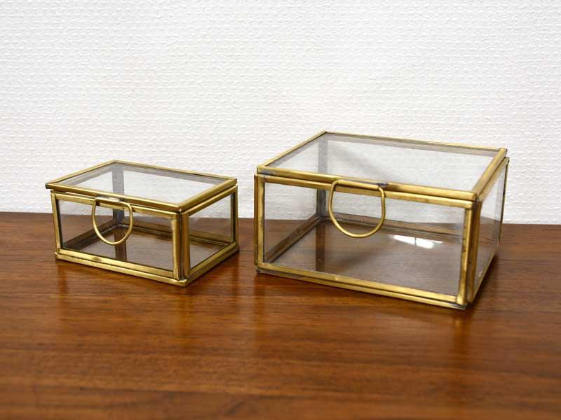 ブラス ガラスコレクション<br>ケース 2Pセット<br>
