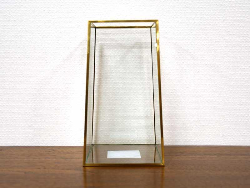 ブラスフレーム ガラスベース<br>スクエア フラスタム<br>