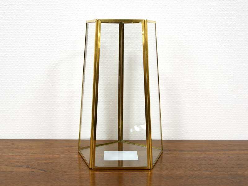ブラスフレーム ガラスベース<br>ペンタゴン<br>