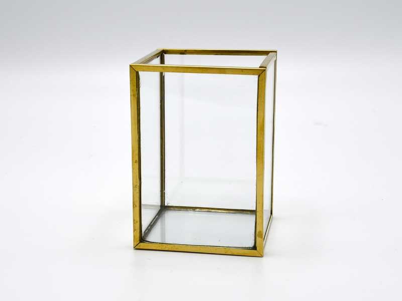ブラスフレーム ガラスベース<br>フレームポット ミニ<br>