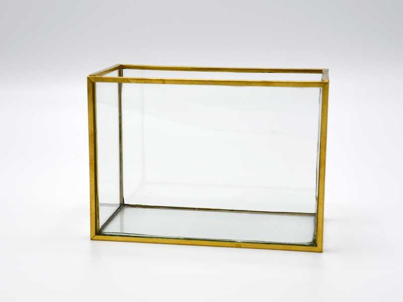 ブラスフレーム ガラスベース<br>フレームポット<br>