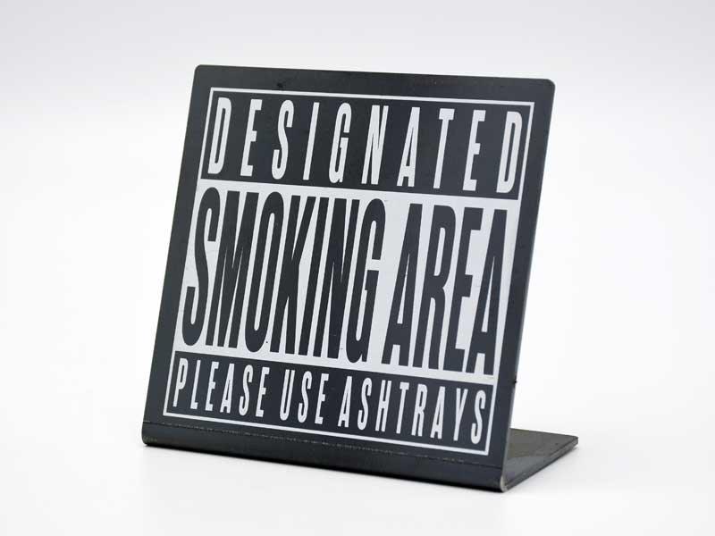 アイアンサイン スタンド<br>SMOKING AREA<br>