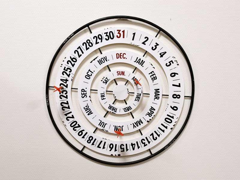 ダーツカレンダー<br>