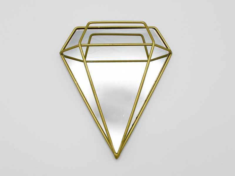 ウォールミラー<br>ダイアモンド ゴールド<br>