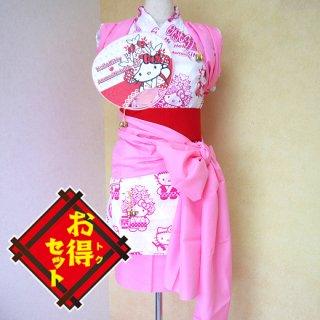 ハローキティのハネト衣装セット(ピンク)