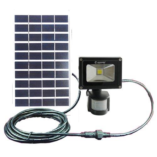 グッド・グッズ LEDガーデンライト ソーラーライト 5W LED投光器 昼白色 防水 人感センサー 光センサー付き GOODGOODS