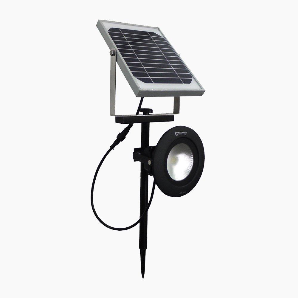 グッドグッズ LED投光器 5W 550LM ソーラー式 投光器(外し単体使用も可能) オグリジナル 昼白色 電球色 ガーデンライト(TY18-5)