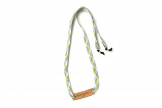 BRIGHTLY COLORS GLASS CODE / White & Light Blue/ White Leather