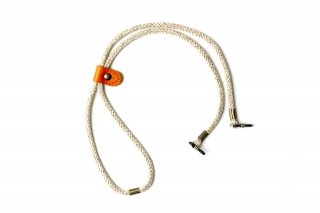 ADJUSTABLE LENGTH GLASS CODE / Light Brown & Orange Leahter