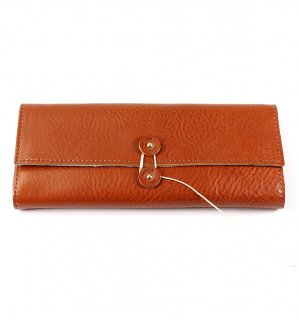SHRINK LEATHER SOFT EYEWEAR CASE / Orange & Turquoise