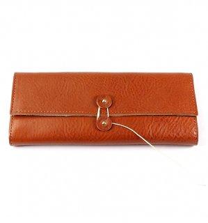 SHRINK LEATHER SOFT EYEWEAR CASE / Orange & Turquoise