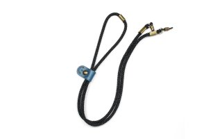 ADJUSTABLE LENGTH GLASS CODE 2 / Grey & Blue / Blue Leather