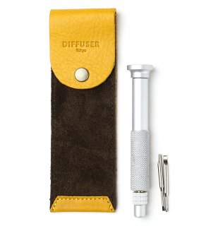 SCREW DRIVER WITH LEATHER CASE 3 / Yellow & Dark Brown