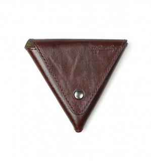 BRUSH ART COIN CASE / Dark Brown