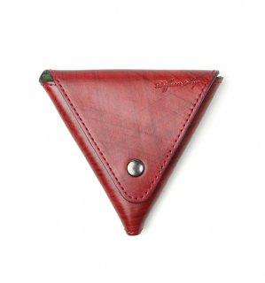 BRUSH ART COIN CASE / Red