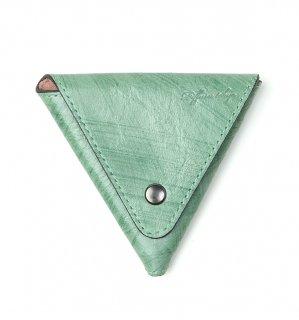 BRUSH ART COIN CASE / Green