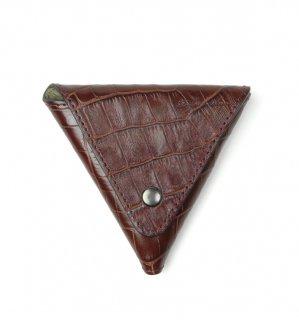 CROCODILE PATTERN  COIN CASE / Dark Brown