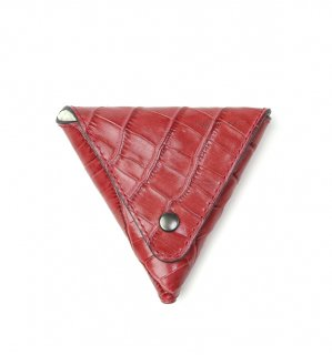 CROCODILE PATTERN  COIN CASE / Red