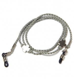 CROSS SILK BRACE  CORD -SILVER / Grey