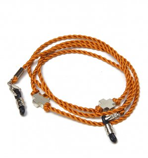 CROSS SILK BRACE  CORD -SILVER / Orange