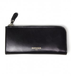 HIGH-END LEATHER EYEWEAR CASE (L) / Black & Grey