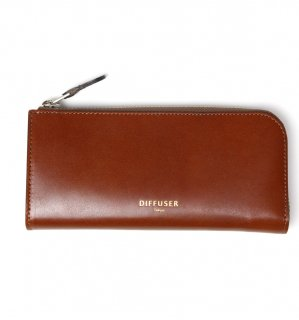 HIGH-END LEATHER EYEWEAR CASE (L) / Dark Brown & Light Green