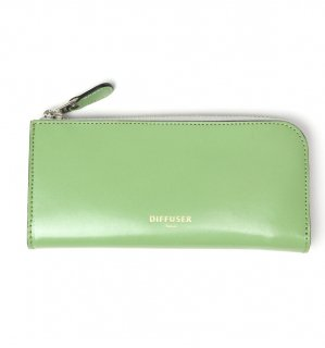 HIGH-END LEATHER EYEWEAR CASE (L) / Light Green & Dark Red
