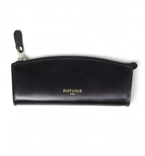 HIGH-END LEATHER EYEWEAR CASE (S) / Black & Grey
