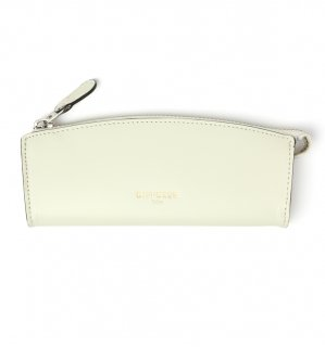 HIGH-END LEATHER EYEWEAR CASE (S) / White & Light Blue Green