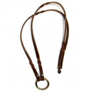 TWISTED LEATHER GLASS HOLDDER / Dark Brown