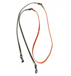 TWO TONE SOPHISTICATED GLASS CORD / Orange & Khaki